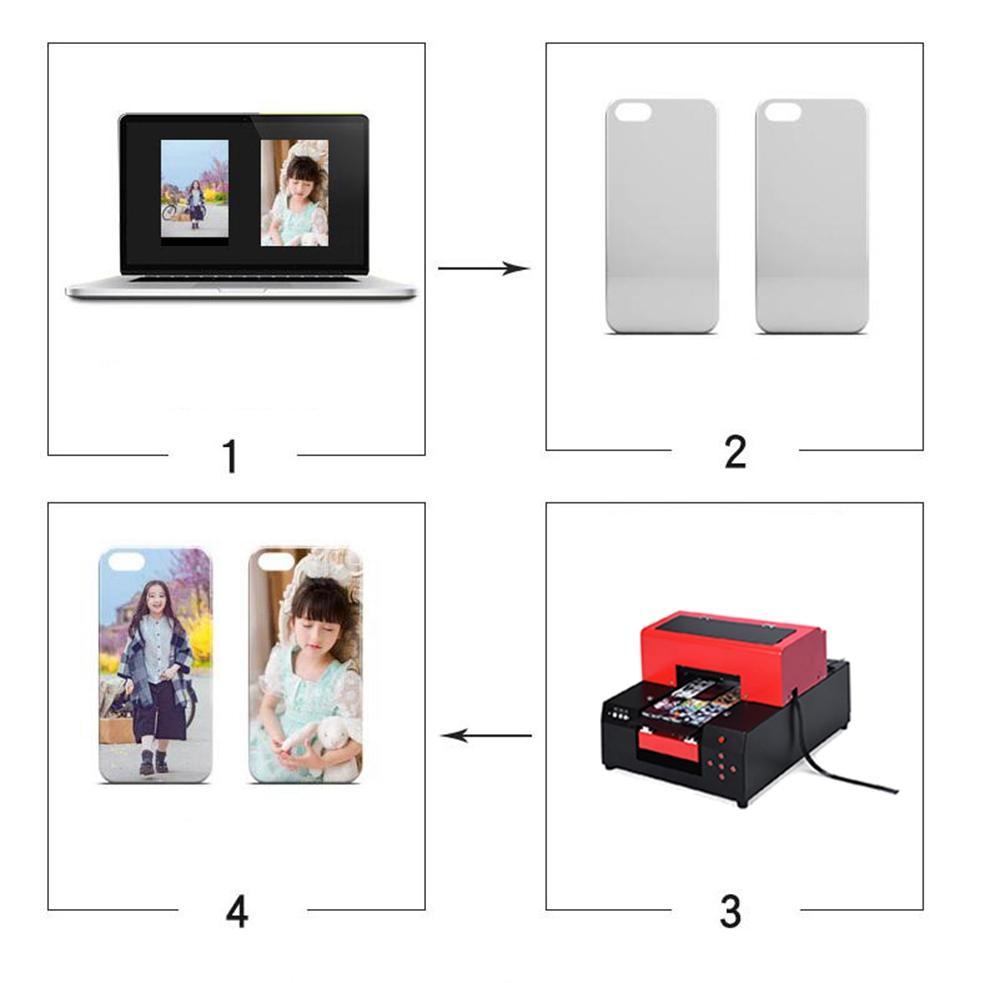 新升级的6色A4 UV平板打印机(红色) 10