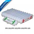 Refillable cartridges for PFI-101 250ml ink Tank