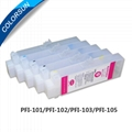Refillable cartridges for PFI-105 250ml
