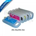 Refillable cartridges for PFI-701 700ml