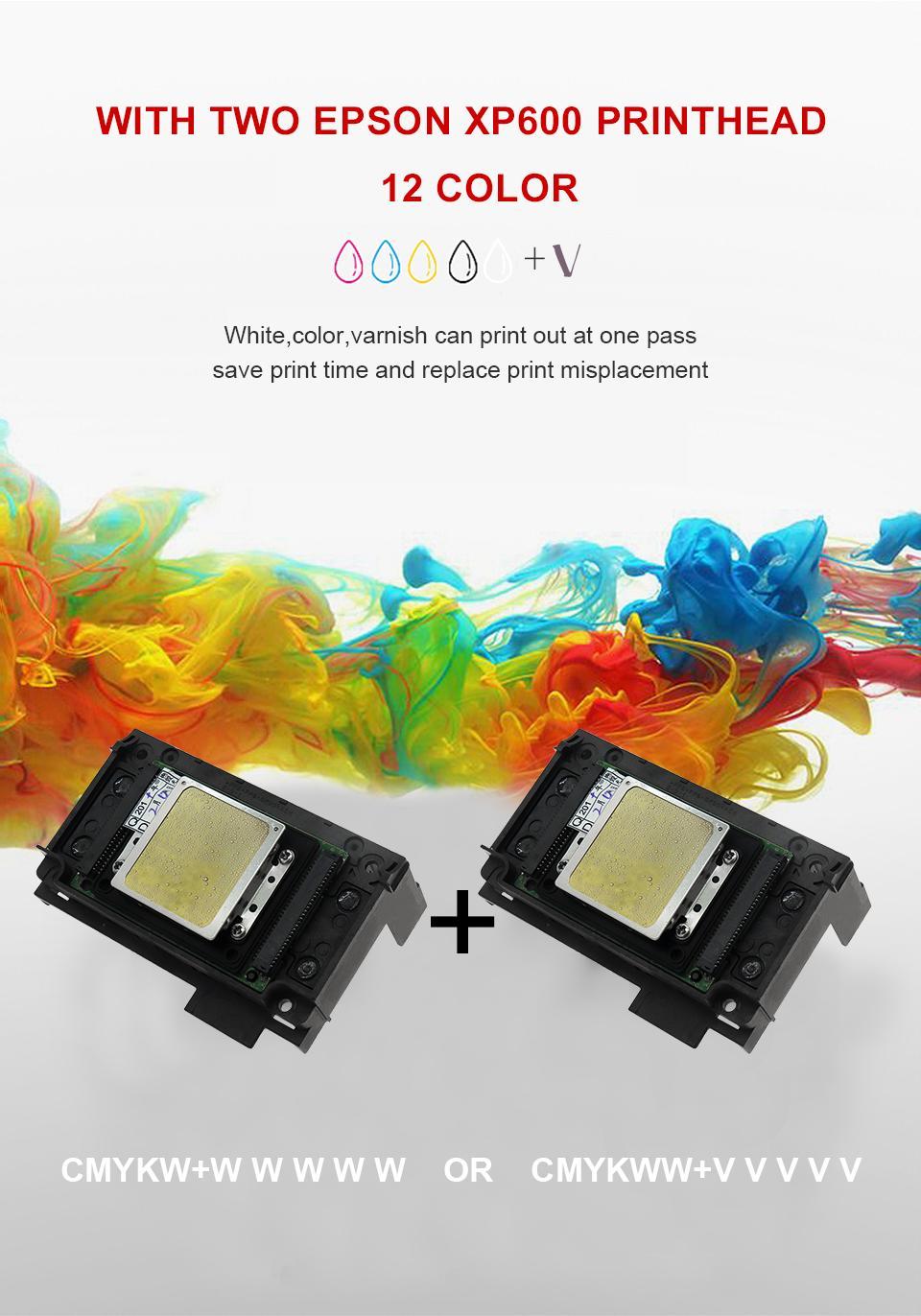 全自动带有双打印头的A3 + 3060 UV打印机 6
