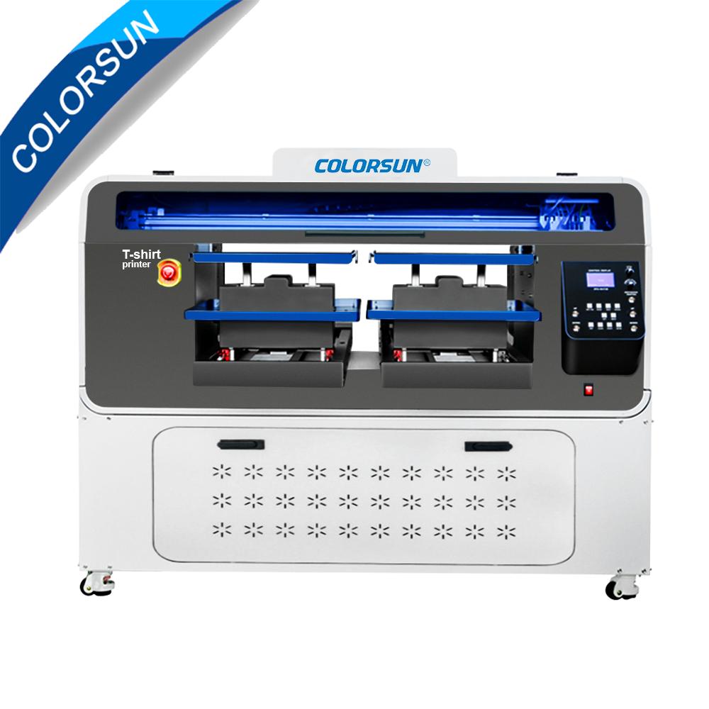 全自动双工位4720 DTG平板打印机 1
