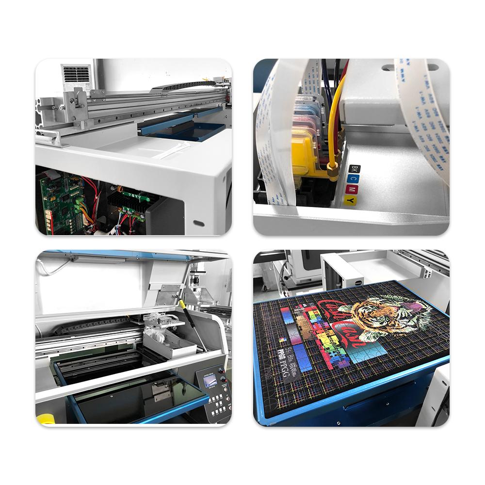 全自动双工位4720 DTG平板打印机 4