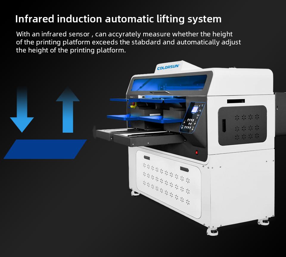 全自动双工位4720 DTG平板打印机 7