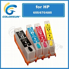 refillable cartridge for HP685/HP670/HP655 with chip