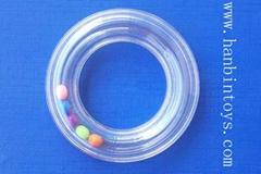 塑料透明环响环响铃摇铃摇响玩具配件