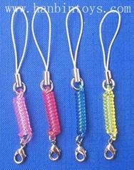 塑膠彈簧手機扣手機挂繩手機飾品手機弔繩