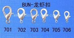 质优价廉各种尺寸铅锌合金铜龙虾扣挂勾挂扣C字扣D字扣羊眼钉