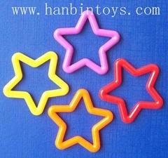 塑料五角星嘴形椭圆勾塑胶勾塑胶环玩具配件