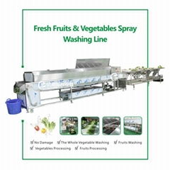 Fresh vegetables, fruit selection and sorting cleaning production line, (Hot Product - 1*)