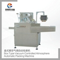 Automatic packaging machine with vacuum control in box