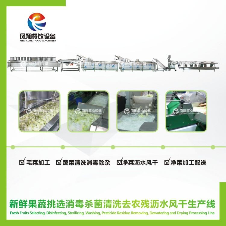 Disinfect wash air dry drying  processing line