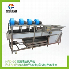 HPD-30 Fruit and vegetable washing drying maching