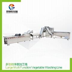 Multifunctional vegetable processing line