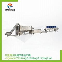 Vegetable Washing & Peeling & Drying Line