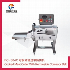 FC-304C Cooked meat cutter with removable conveyor belt