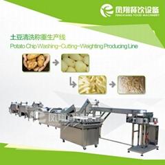 土豆去皮 挑选 切割 称重 包装 生产线