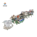 Double eddy current multi-effect vegetable cleaning production line