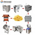 Commercial Small Type Potato Chips Making Machine French Fries Production Line