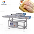 Chicken breast horizontal slicer fresh meat layering slicer