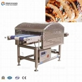 Double track chicken breast meat slicer