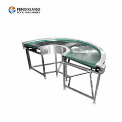 PVC Belt Food Grade Degree Customized Turning Conveyor for Production Line