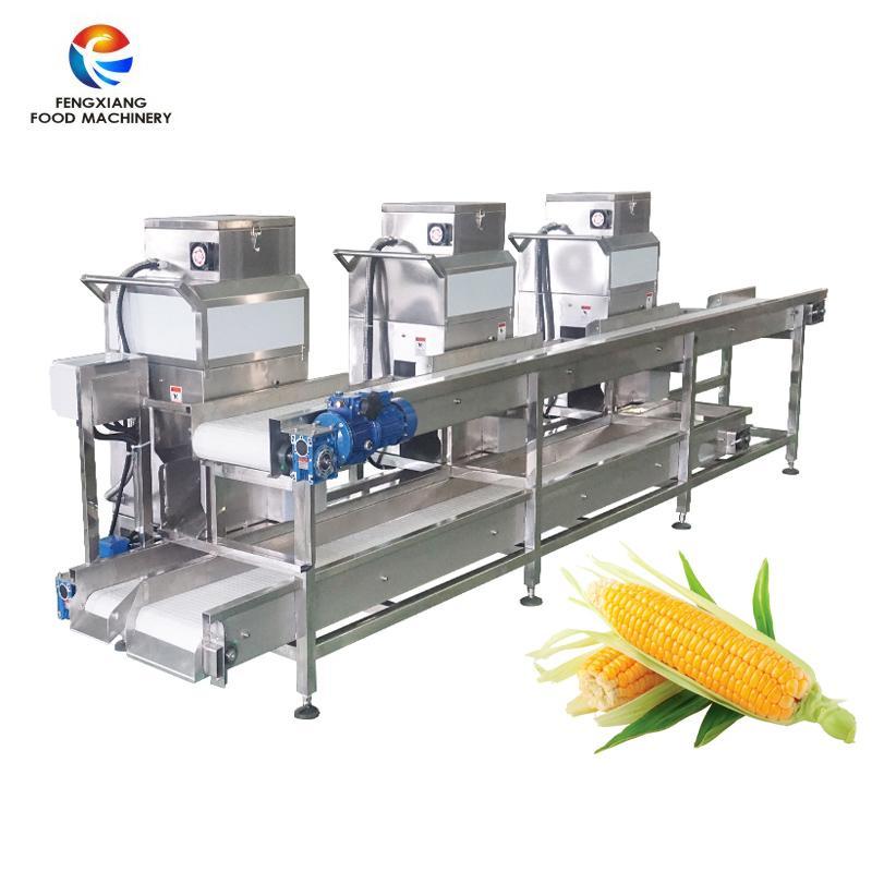 ML-3000 Large Capacity Automatic Sweet Corn Threshing Cutting Machines Line