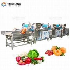 三段式果蔬清洗機+振動瀝水機