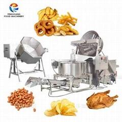 Industrial Food Seasoning Mixing Machine Frying De-Oiling Machine Production Li