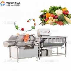 Commercial Vortex Type Vegetable And Fruit Washing Dewatering Machine