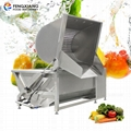 Automatic Flip Discharge Vegetable And Fruit Bubble Washing Cleaning Machine