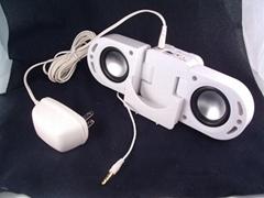 iPod, MP3攜帶式迷你喇叭專用【白色變壓器】