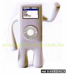 iPod Nano人形直立式矽胶保护套