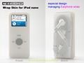 Silicone case (Wrap earphone skin) for iPod nano - multicolor
