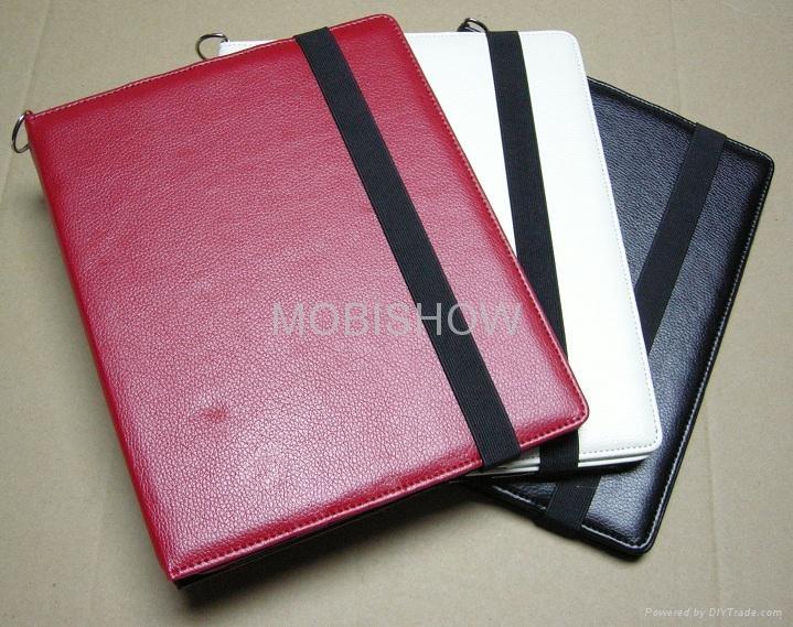 iPAD 2專用立架皮套 (Leather Case) 1