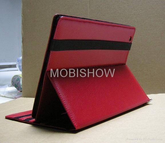 iPAD 2專用立架皮套 (Leather Case) 5