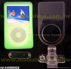iPod Video高档矽胶套 (含防刮片)