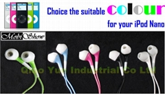 Colourful In-ear Earphone for iPod, MP3, PDA, Cellsphone