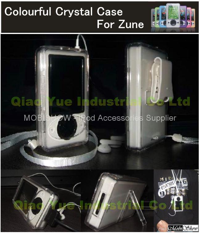 Zune 多彩水晶透明殼 1