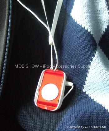 iPod Shuffle 2nd 多彩水晶耳机卷线透明壳 2