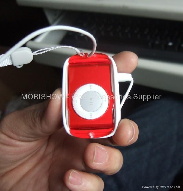 iPod Shuffle 2nd 多彩水晶耳機捲線透明殼 3