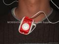 iPod Shuffle 2nd 多彩水晶耳機捲線透明殼 4