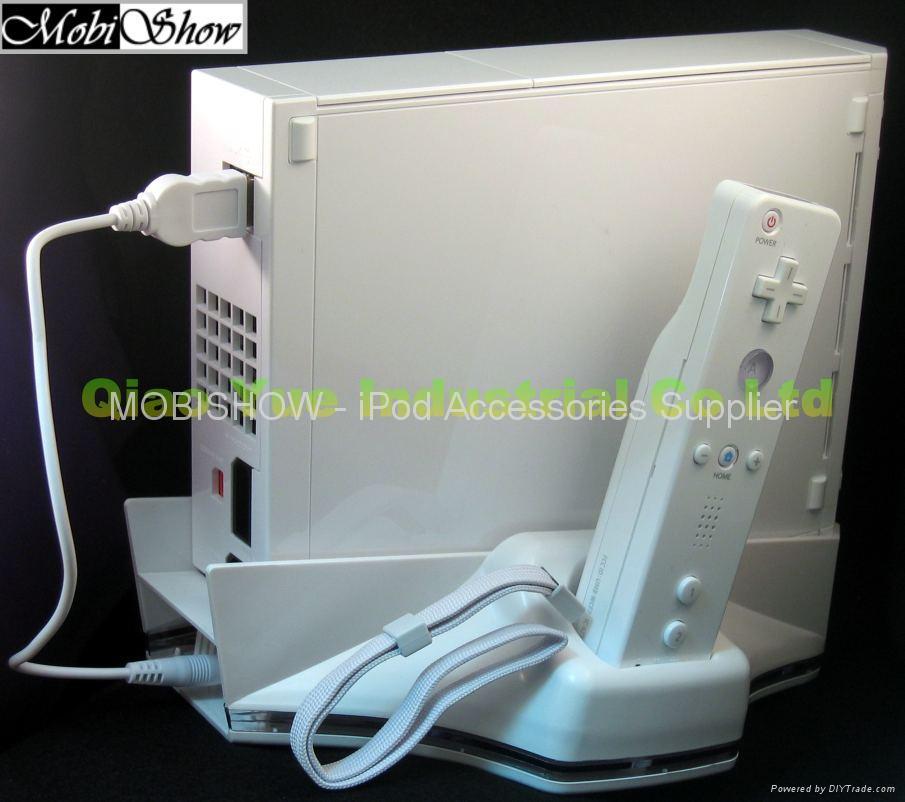 4合1 Wii 专用底座 ( 含风扇,充电器,收纳座) 4