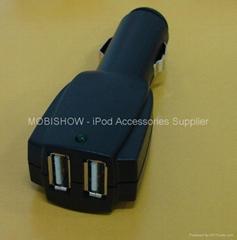 双口USB车充