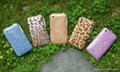 Fashion TPU Leather + ABS Case For iPhone 3G