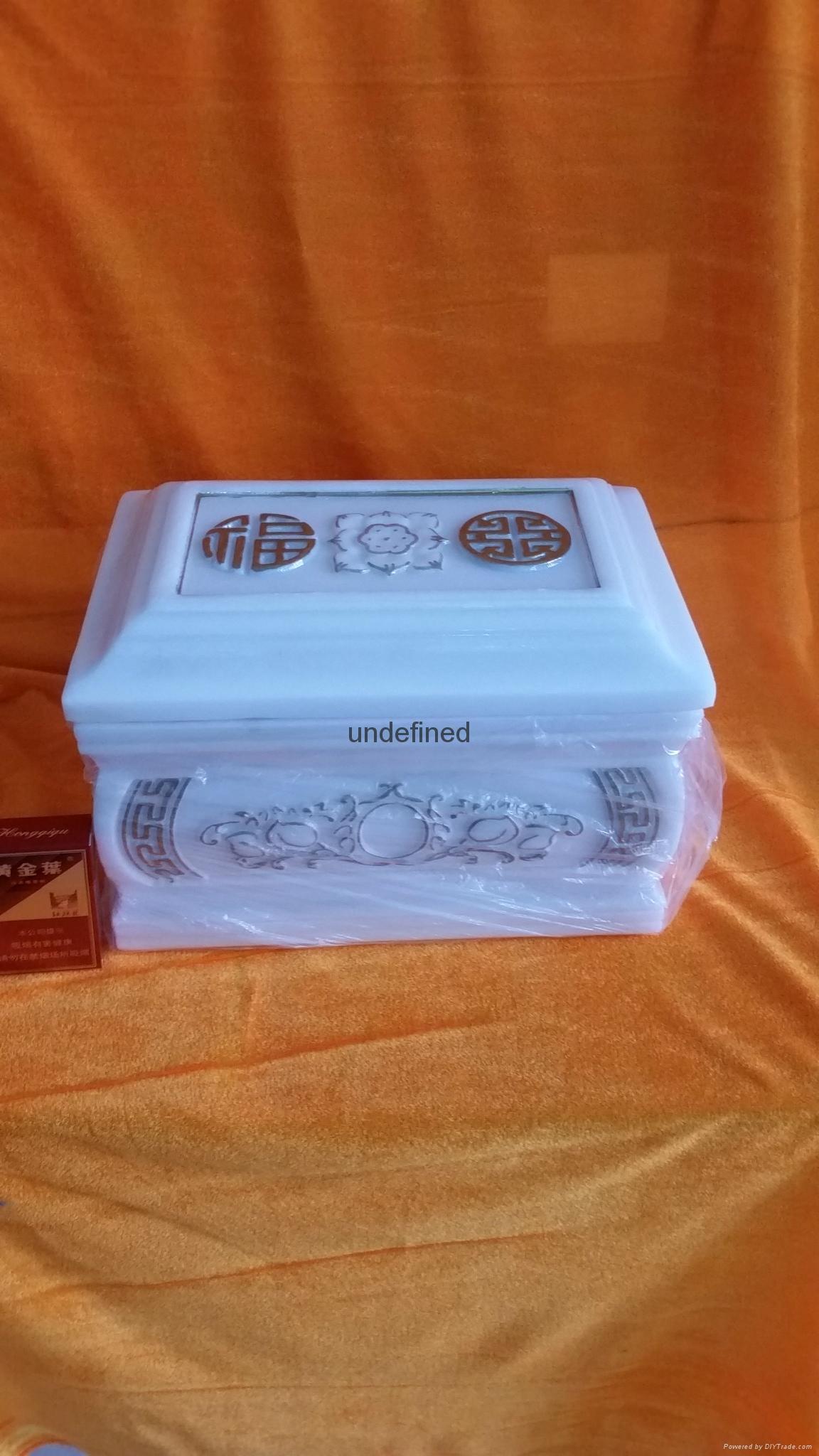 漢白玉鎏金骨灰盒 1