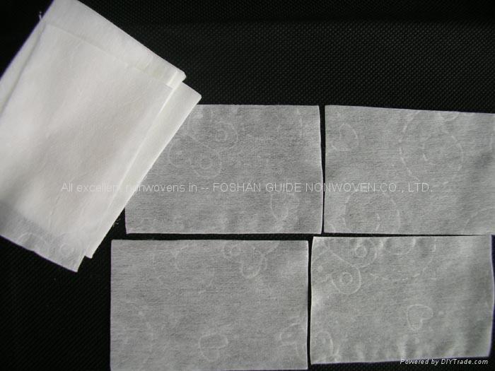 pressed nonwoven facial tissue 1