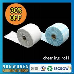 批發日常可回收一次性無紡布酒店柔巾卷擦拭布