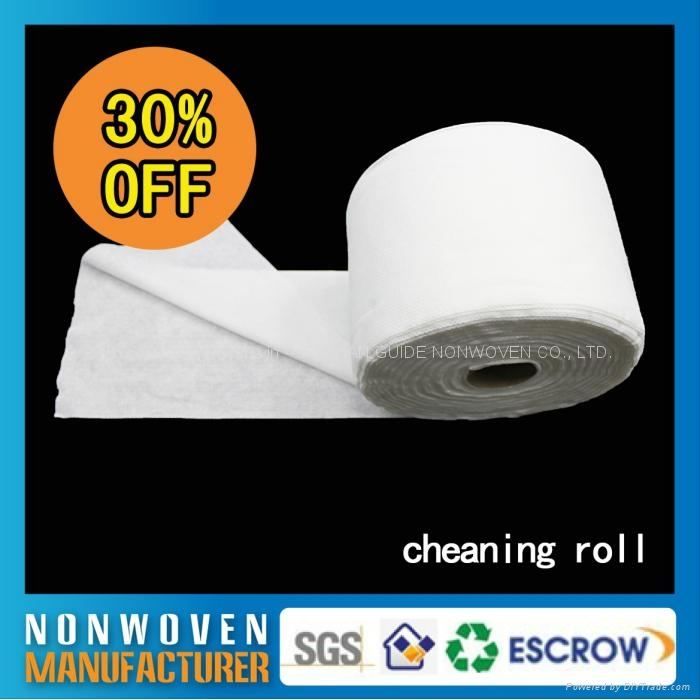 批发日常可回收一次性无纺布酒店柔巾卷擦拭布 2