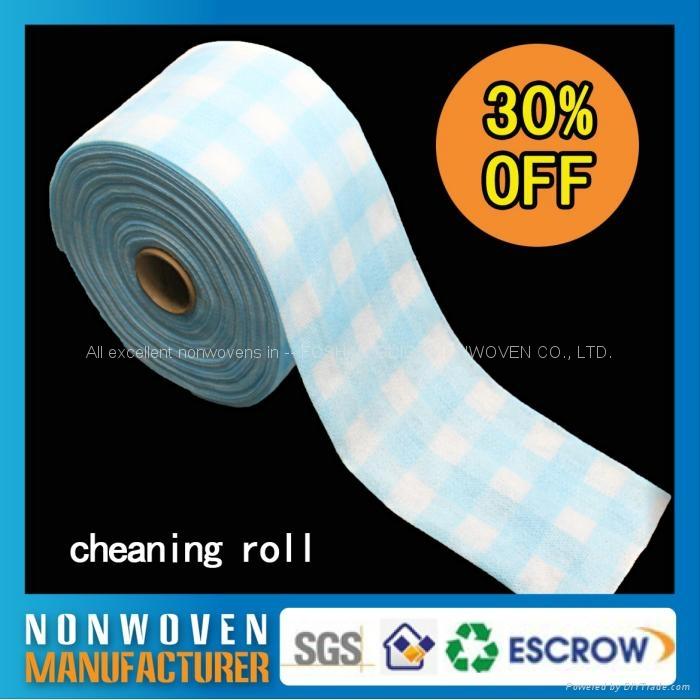 批发日常可回收一次性无纺布酒店柔巾卷擦拭布 3